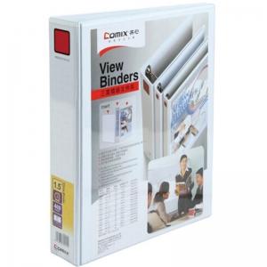 齐心(Comix)A215 A4 2孔 三面插袋文件夹 容纸400页 背宽55mm 白色