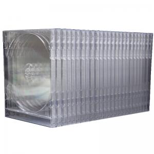 国产 CD DVD 透明方形塑料光盘盒 单面加厚 25片装