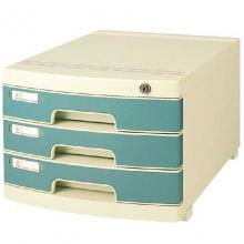 钊盛(ZSSI)ZS-2603 三层带锁 多用带滑轮文件柜/桌面文件柜/抽屉文件柜 屉面颜色随机