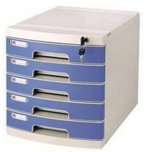 钊盛(ZSSI)ZS-2605 五层 多用带滑轮带锁文件柜/抽屉文件柜/桌面文件柜 屉面颜色随机