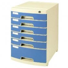 钊盛(ZSSI)ZS-2651 六层 多用带滑轮文件柜/资料柜/桌面文件柜/抽屉文件柜 屉面颜色随机