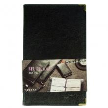 齐心(Comix)NU72 可放72枚 便携式软皮名片册/名片夹 一段三格 黑色