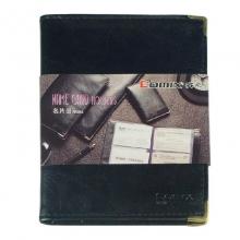 齐心(Comix)NU64 可放64枚 便携式软皮名片册/名片夹 一段二格 黑色