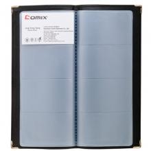 齐心(Comix)NU160 可放160枚 便携式软皮名片册/名片夹 一段四格 黑色