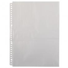 齐心(COMIX)A1968 防眩目30孔文件保护袋/30孔文件袋/文件袋替芯 20个装 透明