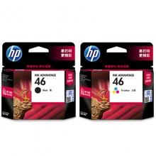惠普(HP) 46 黑彩套装墨盒(适用HP DeskJet 2020hc/2520hc/2529/2029/4729)