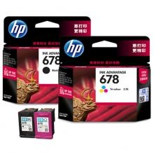 惠普(HP)678 黑彩套装墨盒(适用HP Deskjet1018 2515 1518 4648 3515 2548 2648 3548 4518)