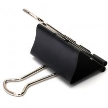 益而高(EaGLE)TY221 纸盒装长尾票夹/燕尾夹/长尾夹/铁夹子/凤尾夹 50mm 黑色 12只/盒