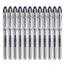 三菱(UNI)UB-200 直液式走珠笔/中性笔(替芯UBR-90)0.8mm 蓝黑 12支装