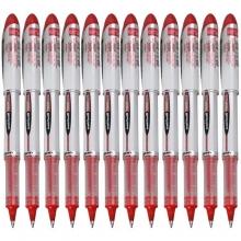三菱(UNI)UB-200 直液式走珠笔/中性笔(替芯UBR-90)0.8mm 红色 12支装