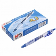 晨光(M&G) GP1163 中性笔/水笔/按动签字笔(替芯G-5)0.5mm 蓝色 12支装