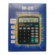 卡西欧(CASIO)M-28 办公台式计算器 12位 黑色