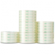 得力(deli)30323 透明封箱胶带/宽胶带 60mm*60y*50um(54.9m/卷) 6卷/筒