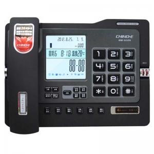 中诺(CHINO-E)G025 数码录音电话机/座机 带4G卡可扩容 黑色
