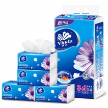 维达(Vinda)V2223 纸面巾/面巾纸/抽纸 3层 133*195mm 120抽*4包*16提/箱