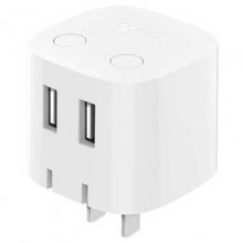 公牛(BULL)GN-U212TN 智能手机充电器 USB快充 白色 折叠插脚/自动防过充