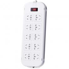 突破(TOP)T1KT 新国际电源插座/插线板/保镖三合一开关接线板 10A 十位总控 3米