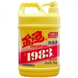 金鱼(Gold Fish)洗涤灵/洗洁精 无磷配方 去油无痕 2kg/桶