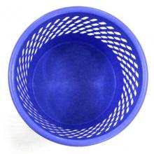 得力(deli)9553 塑料网状纸篓/垃圾篓垃圾桶(直径26cm*高26.5cm)蓝色