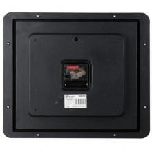 得力(deli) 9007简约现代方形时钟 电子时钟挂钟客厅钟表办公静音钟(土棕)34.5*30cm