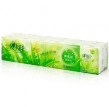 心相印 C1710 茶语系列3层手帕纸/绿茶清香 10片*3层 10包/条