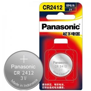 松下(Panasonic)CR2412 纽扣电池 3V钮扣电池 一粒装