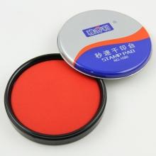 雅齐利(YAQILI)1090 铁盒圆形秒速干印台/印泥 90mm 红色