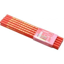 中华(GHUNG HWA)536 五星特种铅笔/彩色铅笔/玻璃笔/石材笔 红色 10支装