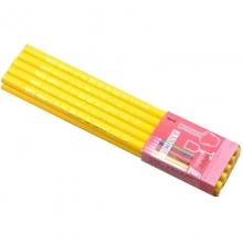 中华(GHUNG HWA)536 五星特种铅笔/彩色铅笔/玻璃笔/石材笔 黄色 10支装