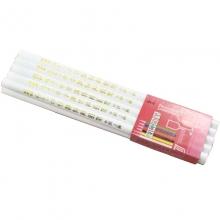 中华(GHUNG HWA)536 五星特种铅笔/彩色铅笔/玻璃笔/石材笔 白色 10支装