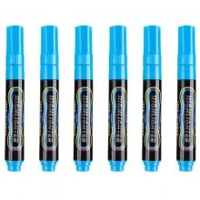 宝克(BAOKE)MP4901 可擦荧光笔/LDE电子屏荧光板笔/标记笔/广告彩绘笔(圆头)6支/盒 蓝色