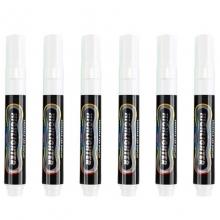 宝克(BAOKE)MP4901 可擦荧光笔/LDE电子屏荧光板笔/标记笔/广告彩绘笔(圆头)6支/盒 白色
