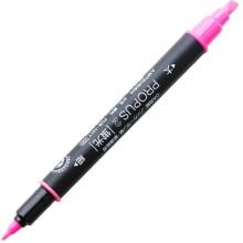 三菱(UNI)PUS-101T 双头荧光笔/标记笔/彩色绘画记号笔 粉红色