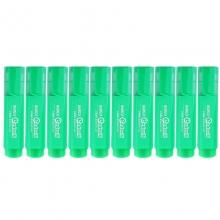 宝克(BAOKE)MP460 荧光笔/重点醒目标记笔 10支装 绿色