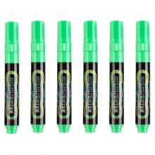 宝克(BAOKE)MP4901 可擦荧光笔/LDE电子屏荧光板笔/标记笔/广告彩绘笔(圆头)6支/盒 绿色