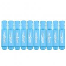宝克(BAOKE)MP460 荧光笔/重点醒目标记笔 10支装 蓝色