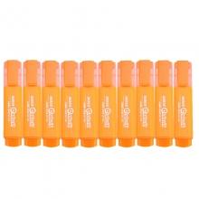 宝克(BAOKE)MP460 荧光笔/重点醒目标记笔 10支装 橙色