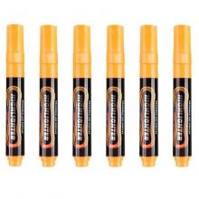 宝克(BAOKE)MP4901 可擦荧光笔/LDE电子屏荧光板笔/标记笔/广告彩绘笔(圆头)6支/盒 橙色
